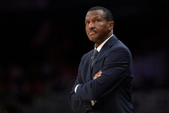 Pistons coach Dwane Casey