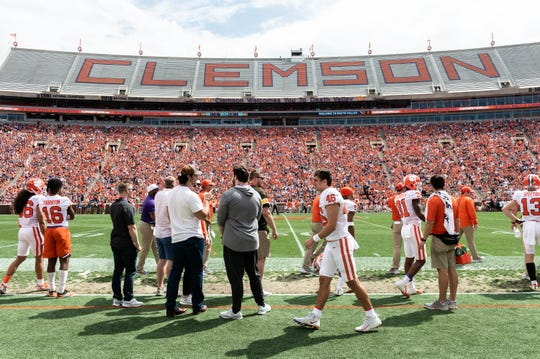 Clemson drew an estimated 60,000 fans to its spring game in 2019.