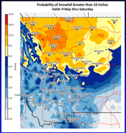 Heavy snow is expected across northcentral Montana beginning Friday and continuing through Saturday evening.