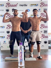Joey Crisostomo Jr., left, will take on Jae Hyuk Bang of Korea Top Team in the main event of the first Brawl event March 13 at the Dusit Thani Guam Resort.