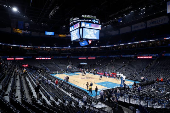 The NBA is on hiatus. On March 11th, fans left after the announcement that the Oklahoma City Thunder vs. Utah Jazz was canceled shortly before the tip at the Chesapeake Energy Arena.