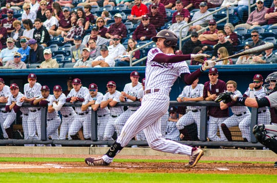 Mississippi State junior shortstop Jordan Westburg went 1-for-5 during the Bulldogs 3-2 win over the Texas Tech Red Raiders on Wednesday at MGM Park in Biloxi.