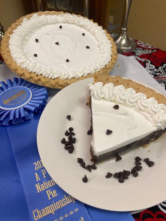 The award-winning Slap Yo Mama Chocolate Cream Pie at The Pie Folks.