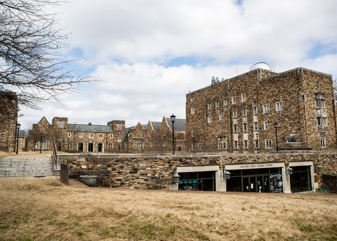 Rhodes College is almost empty during spring break on Thursday, March 12, 2020. The college announced that it is asking students not to return to campus following spring break .
