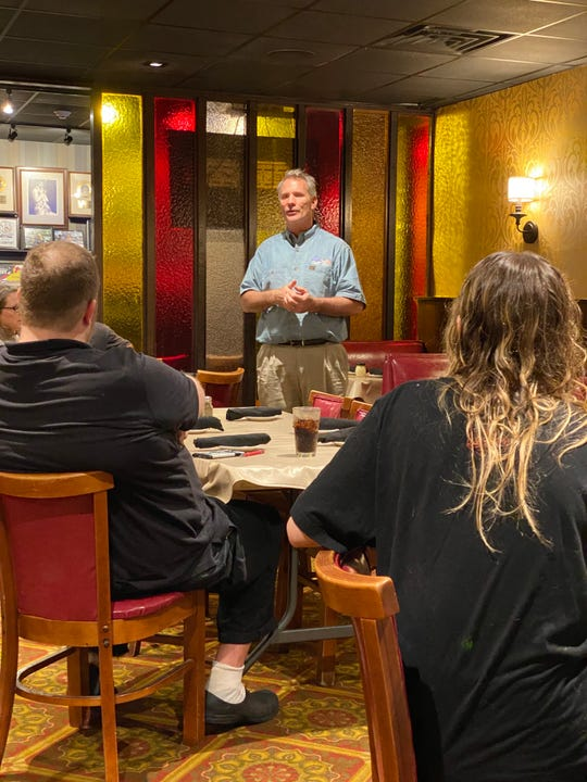Pat Taylor of Cleaner Solutions LLC is working with his clients, such as Pete & Sam's, to make sure all employees are up to date on safe cleaning and sanitizing practices.