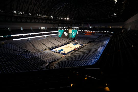Dickies Arena in Fort Worth, Texas, where AAC officials canceled their conference basketball tournament Thursday over concerns about the coronavirus.