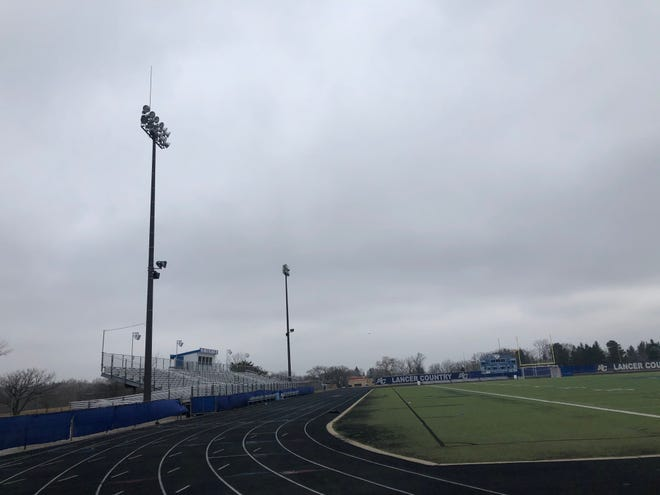 New 80-foot light poles will be placed at both Brookfield Central and Brookfield East's multipurpose outdoor athletic fields.