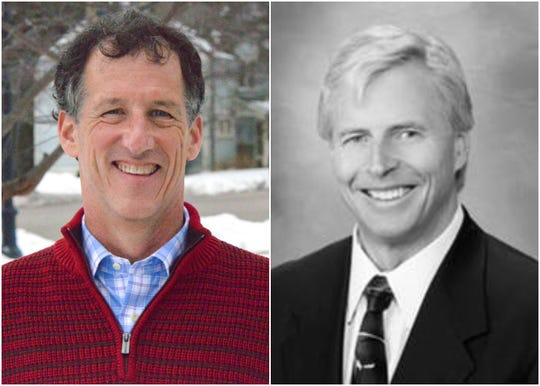 Gregg Bach, left, is challenging District 5 Alderman Mark Gierl in the April 7 election.