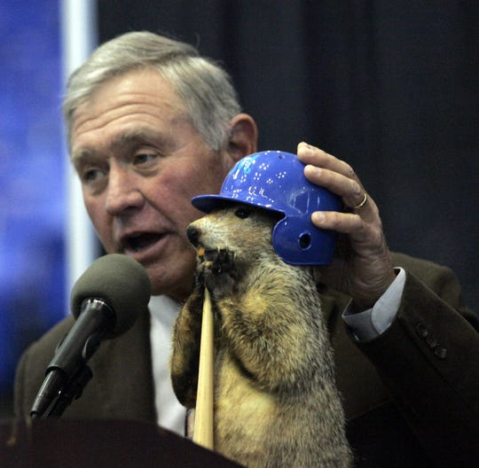 Former MTSU baseball coach Steve Peterson was known for his preseason dreams and predictions, which were shared at the annual Groundhog Day Luncheon with the help of groundhog Raider II. Peterson died Wednesday at age 68.