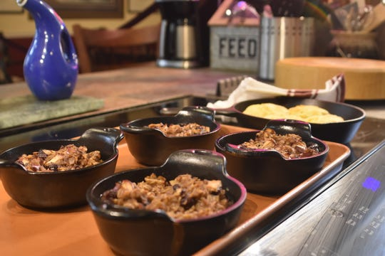 Marsha Borgeson makes oatmeal dishes and biscuits from scratch at the Bluff Creek Farms Bed & Breakfast in Ashland City.