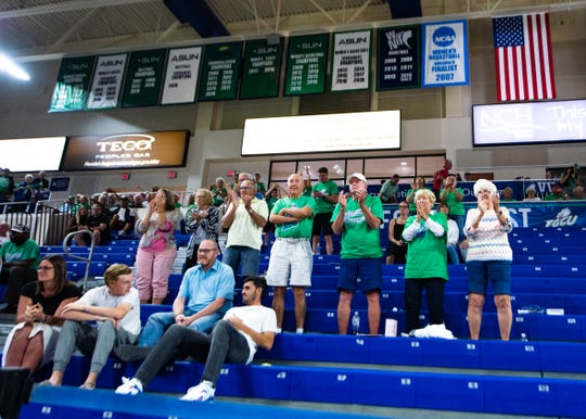 FGCU fans cheer on the Eagles during their ASUN women's basketball semifinal against North Florida Thursday at Alico Arena.