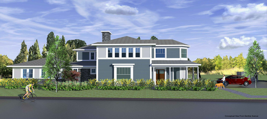 A rendering of a proposed special needs housing on Genther Avenue in Oradell