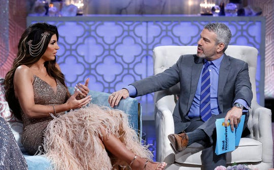 "Teresa Giudice and Andy Cohen on the March 11, 2020 episode of ""The Real Housewives of New Jersey."""