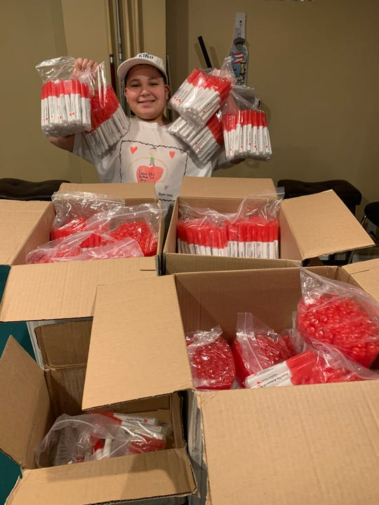 Jayden Perez, 11, of Woodland Park is donating 1,000 spray sanitizers to the borough school district amid coronavirus concerns.
