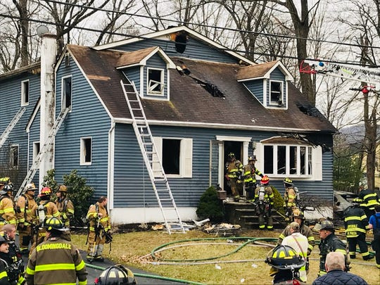 A fire ripped through a home on Sally Street in Bloomingdale on Thursday, March, 12, 2020.