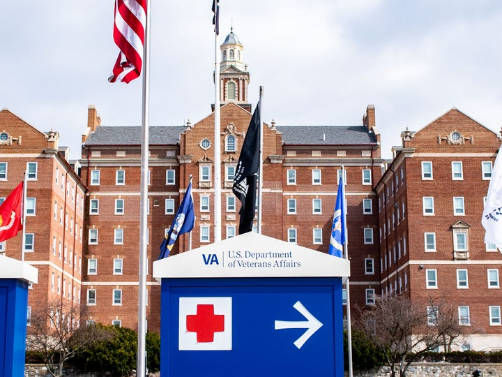 The VA Medical Center is screening every person who enters the facility for the new coronavirus symptoms.