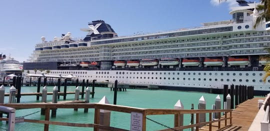 The Celebrity Infinity in port March 12 in Mexico.