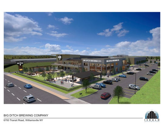 The rendering for Big Ditch Brewing's new location in Cheektowaga, Erie County.