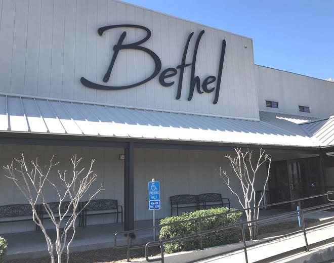 The outside of Bethel Church is shown on College View Drive in Redding. Bethel will not host public church services right away at any of its Redding campuses even though the state has relaxed rules for houses of worship.