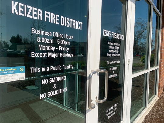 The exterior of the Keizer Fire District building on Chemawa Road NE in Keizer. Five Keizer Fire first responders in quarantine after exposure to coronavirus patient after they transported a patient who later tested positive for the coronavirus COVID-19.