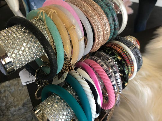 Key rings sold at Janell Rae's Boutique.