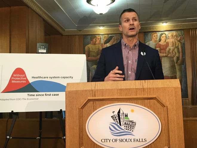 The city of Sioux Falls is declaring a state of emergency in response to COVID-19, Mayor Paul TenHaken said Wednesday during a news conference at Carnegie Town Hall.