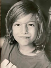 Luca Di Basilio, 9. His mom is from Springfield, his dad from Rome. He and his family were living under Italy's coronavirus lockdown in March 2020.