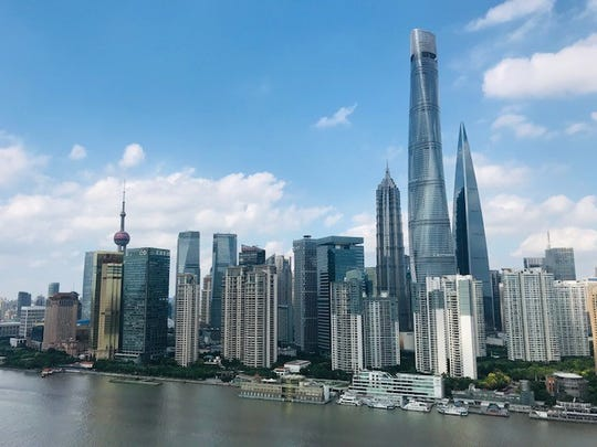 The Bund, a touristy spot in Shanghai, shown in September 2019.
