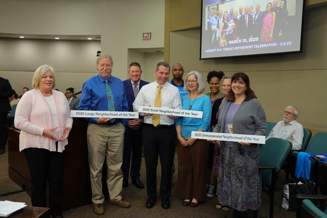 At Tuesday's Commission meeting, Leon County Government and the Council of Neighborhood Associations (CONA) recognized our community's outstanding neighborhoods and neighbors with the 39th Annual Neighborhood Awards.