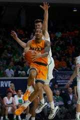UTEP's Daryl Edwards takes a shot against Marshall during the game Wednesday, March 11, at C-USA in Frisco.