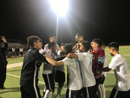 The Socorro boys soccer team are district champions for the third straight year.