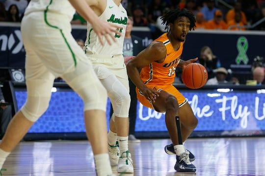 UTEP's Kaden Archie during the game against Marshall Wednesday, March 11, at C-USA in Frisco.