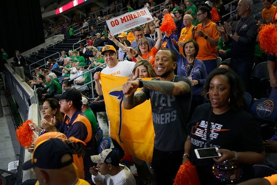 UTEP fans during the game against Marshall Wednesday, March 11, at C-USA in Frisco.