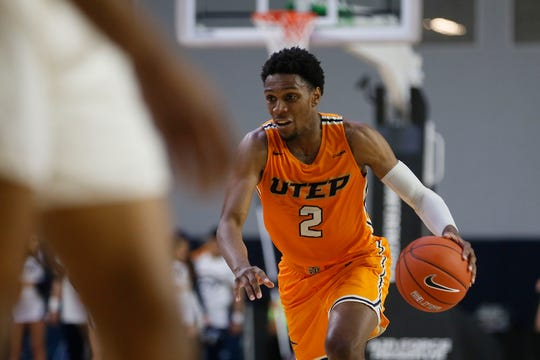 UTEP's Jordan Lathon during the game against Marshall Wednesday, March 11, at C-USA in Frisco.