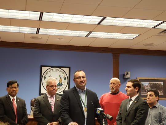 Ron Hatter, superintendent of the Yorktown Central School District, was among speakers at a news conference Thursday about schools being closed out of an abundance of caution amid coronavirus concerns sweeping Westchester County.