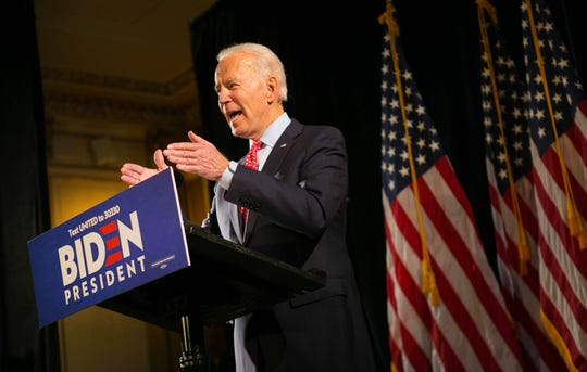 Democratic presidential hopeful Joe Biden spoke March 12 in Wilmington, Delaware, on the coronavirus, and his views on the way to respond to it.