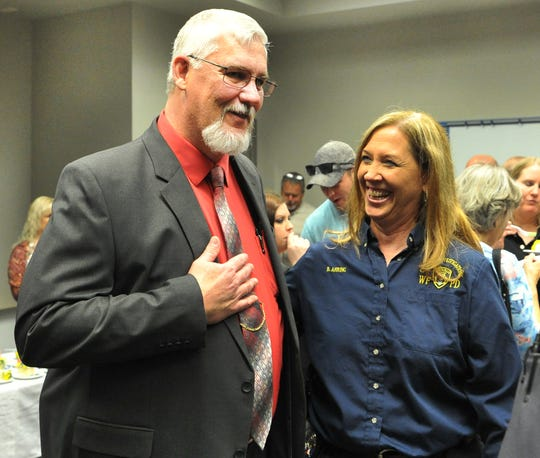 Wichita Falls police honored Raymond Perry for his 26 years with the department.