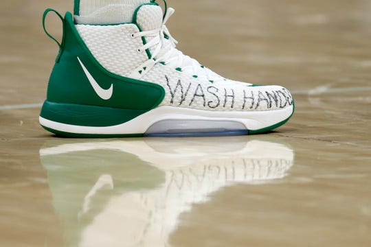 Celtics center Enes Canter offers a valuable reminder on his shoes.