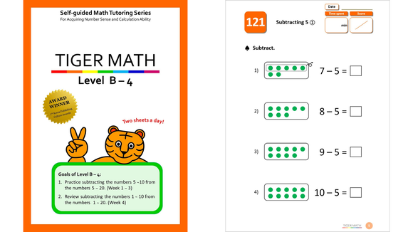 Tiger Math workbooks keep the learning going, even when they're not in school.