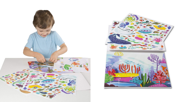 Reusable stickers and giant sticker books keep the fun going for days on end.