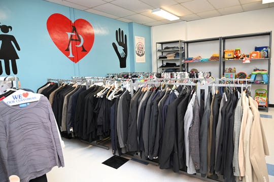 Dress for Success clothing, shoes and accessories are available free to students in the Legacy Center at Asbury Park High School.