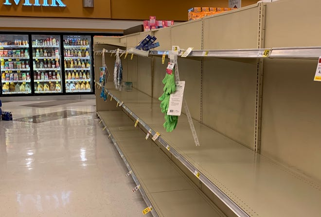 Grocery store shelves are turning up bare in some places.