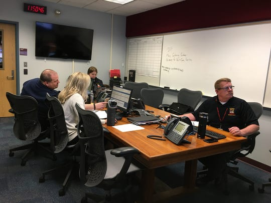 Members of the Broome County Office of Emergency Services and the Health Department monitor information about the coronavirus Friday, March 13, 2020.