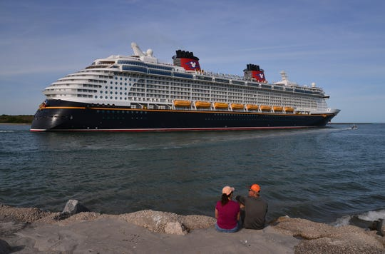 Disney Cruise Line announced it was suspending cruises effective Saturday due to the Covid-19. On Friday the Disney Dream left Port Canaveral about 5 p.m., the last Disney ship to sail until Disney resumes cruises.