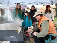 The Vogels have enjoyed making maple syrup as a family event for the past 6 years on their farm in the Wading River section of Bass River Township.