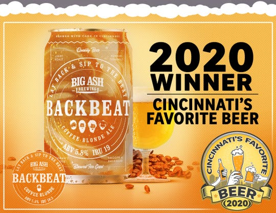 Backbeat Coffee Blond Ale is Cincinnati's Favorite Beer 2020.