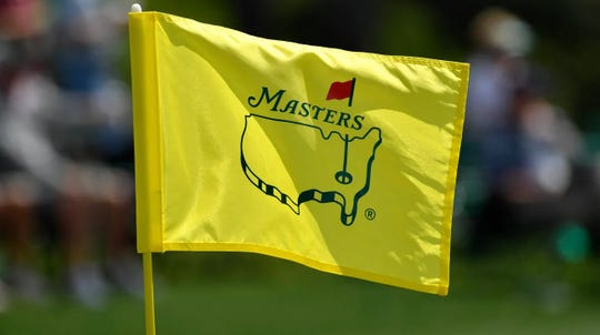 Flag for the Masters Tournament, the golf tournament at the August National Golf Club.