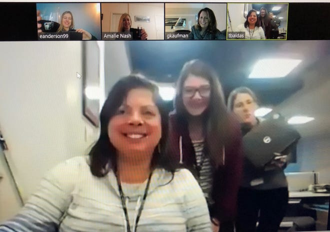 Current and former Free Press staffers joined a conference call to celebrate a birthday Thursday, March 12, 2020. Spread of the coronavirus prompted self-quarantine and the computer-based celebration.