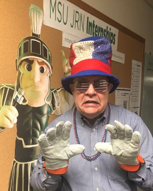 MSU journalism professor Joe Grimm took his classes offline this week.
