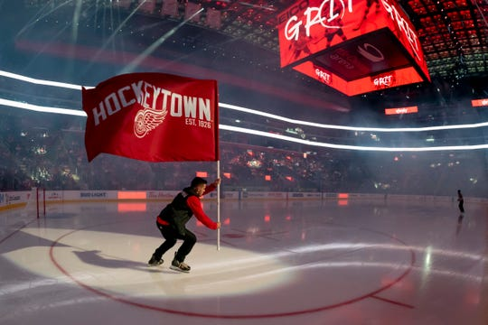 The Red Wings' season is suspended until at least mid-May.